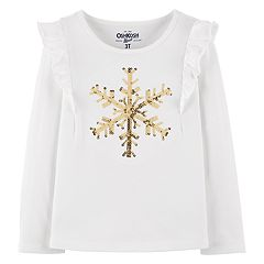 Baby Girl OshKosh B'gosh® Snowflake Sequin Tee