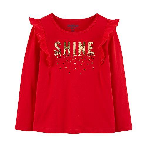 """Baby Girl OshKosh B'gosh® """"Shine"""" Sequined Graphic Top"""