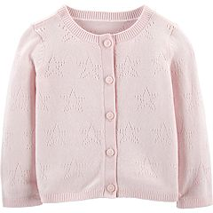 Baby Girl OshKosh B'gosh® Pointelle Star Cardigan