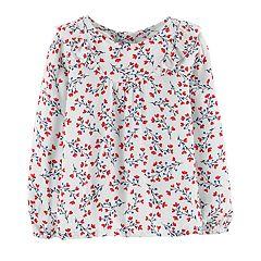 Baby Girl OshKosh B'gosh® Floral Ruffled Top