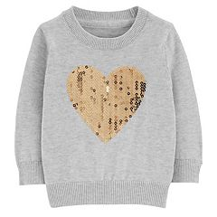 Baby Girl OshKosh B'gosh® Flip-Sequin Heart Sweatshirt
