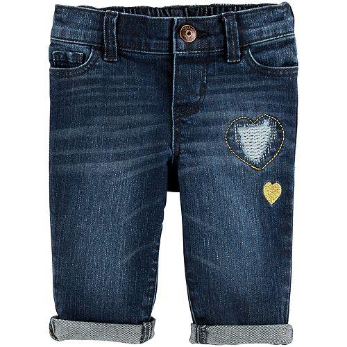 Baby Girl OshKosh B'gosh® Embroidered Heart Jeans
