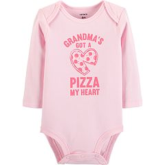 Baby Girl Carter's 'Grandma's Got A Pizza My Heart' Pizza Graphic Bodysuit