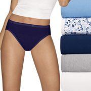 Women's Hanes Ultimate 5 pk+ 2 Bonus Comfort Ultra Soft Hi-Cut Panties 43HUC7