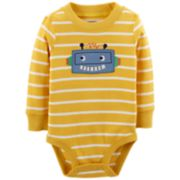 Baby Boy Carter's Striped Robot Applique Bodysuit