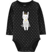 Baby Girl Carter's Polka-Dot Dance Mouse Bodysuit