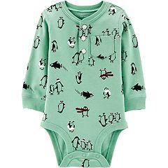 Baby Boy Carter's Penguin Henley Bodysuit