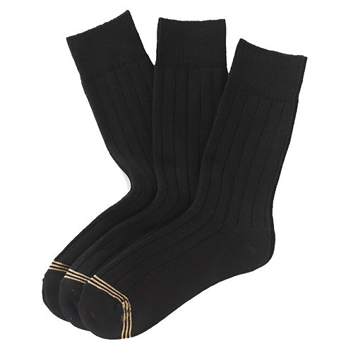 Boys GOLDTOE® 3-pk. Wide-Rib Dress Socks
