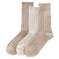 Boys GOLDTOE 3 pkWide-Rib Dress Socks