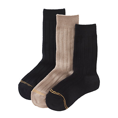 Boys GOLDTOE 3-pk. Wide-Rib Dress Socks