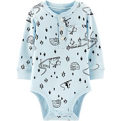 Baby Boy Carter's Polar Bear & Igloo Henley Bodysuit