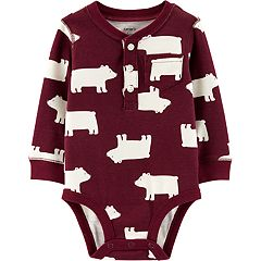 Baby Boy Carter's Polar Bear Henley Bodysuit