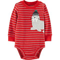 Baby Boy Carter's Striped Sea Lion Bodysuit