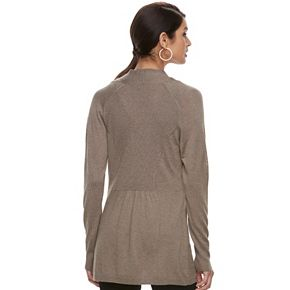 Women's Apt. 9® Essential Ribbed Sweater Cardigan