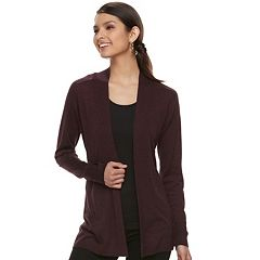 Women's Apt. 9® Essential Ribbed Sweater Cardigan