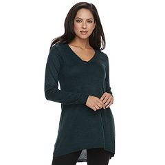 Women's Apt. 9® High-Low V-Neck Tunic Sweater