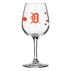 Boelter Detroit Tigers Polka-Dot Wine Glass