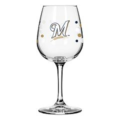 Boelter Milwaukee Brewers Polka-Dot Wine Glass