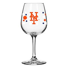 Boelter New York Mets Polka-Dot Wine Glass
