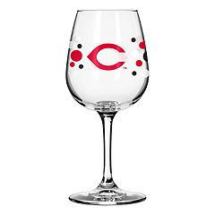 Boelter Cincinnati Reds Polka-Dot Wine Glass