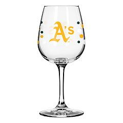 Boelter Oakland Athletics Polka-Dot Wine Glass