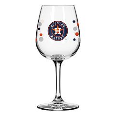 Boelter Houston Astros Polka-Dot Wine Glass