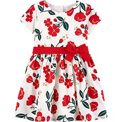 Toddler Girl Carter's Floral Ribbon Dress