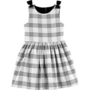 Toddler Girl Carter's Plaid Sateen Dress