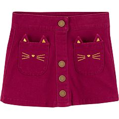Toddler Girl Carter's Cat-Pocket Skirt