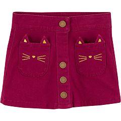 Toddler Girl Carter's Cat-Pocket Skirt