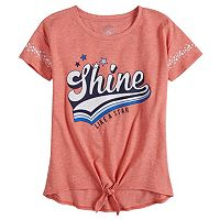 Girls 7-16 & Plus Size SO® Knot Graphic Tee