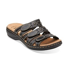 3cf260b48ca7 Clarks Leisa Cacti Q Women s Ortholite Sandals. Denim Blue Black Brown Navy  Pewter