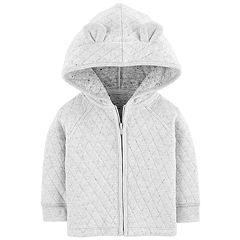 Baby Boy OshKosh B'gosh® Quilted 3-D Ears Zip Hoodie
