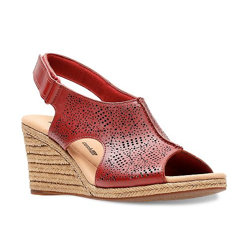 6046e91c8170 Clarks Lafley Rosen Women s Ortholite Wedge Heels