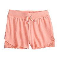 Girls 7-16 SO® Crochet Trim Shorts