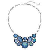 Iridescent Blue Statement Necklace