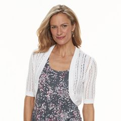 Women's Croft & Barrow® Pointelle Shrug Cardigan
