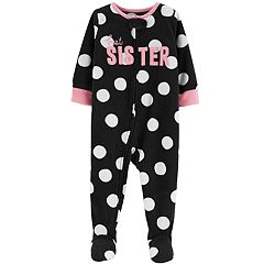 Baby Girl Carter's 'Best Sister' Microfleece Footed Pajamas