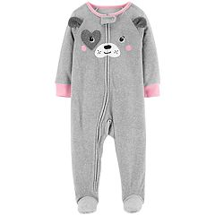 Baby Girl Carter's Puppy Dog Microfleece Footed Pajamas