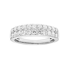 Platinum 1 Carat T.W. IGL Certified Diamond Pave Wedding Band