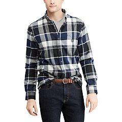 Big & Tall Chaps Regular-Fit Performance Flannel Button-Down Shirt