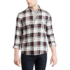 Big & Tall Chaps Regular-Fit Performance Flannel Button-Down Shirt