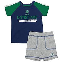 Baby Notre Dame Fighting Irish Tee & Shorts Set