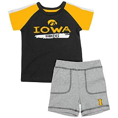 Baby Iowa Hawkeyes Tee & Shorts Set