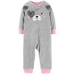 Baby Girl Carter's Puppy Dog Microfleece Coveralls