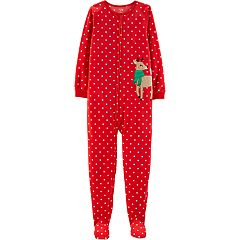 Girls 4-14 Carter's Christmas Microfleece Footed Pajamas