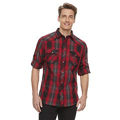 Men's Rock & Republic Western Plaid Button-Down Shirt
