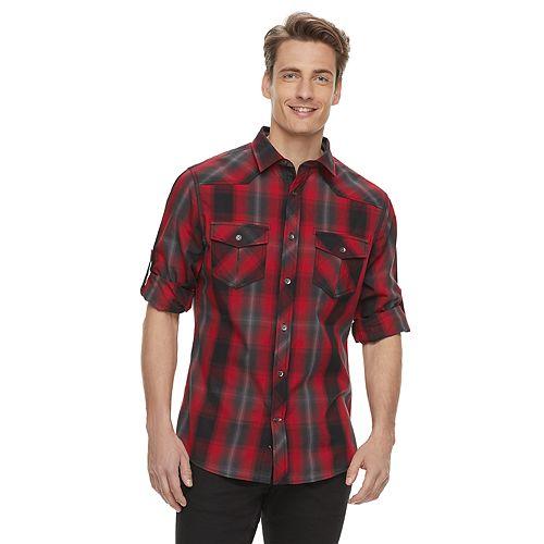 Men's Rock & Republic Western Plaid Button-Down Shirt