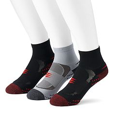 Men's PowerSox 3-Pack Apex Pro Quarter Socks
