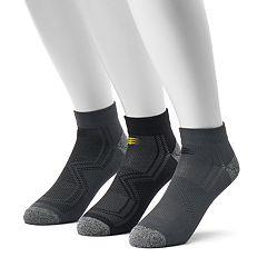 Men's PowerSox 3-pack Tech Series Tactel Low-Cut Socks
